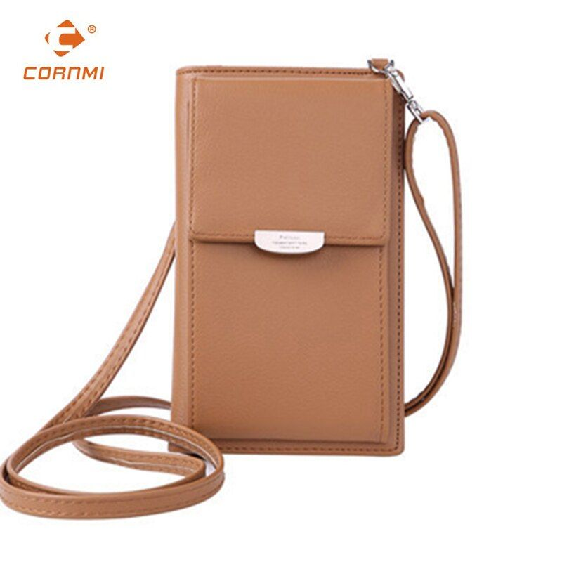 2018 New Arrivals Crossbody wallet and phone pruse For iPhone wallet Case Universal Wallet Cover Case