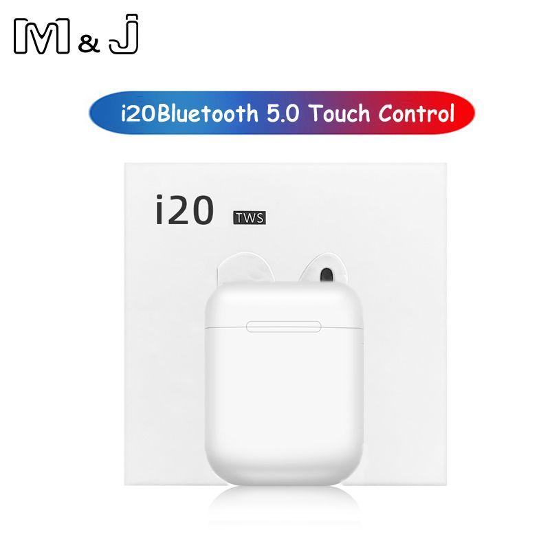 I20 TWS sans fil Bluetooth 5.0 écouteurs sport anti-transpiration casque tactile écouteurs portables pour i10 i12 i30 i60 i80 i90 i100 tws