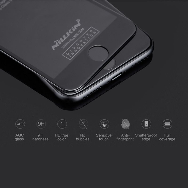 Full Cover 3D Tempered Glass Screen Protector For iPhone 8 screen protector Nillkin 9h for iphone 8 plus safety glass <font><b>4.7</b></font> & 5.5