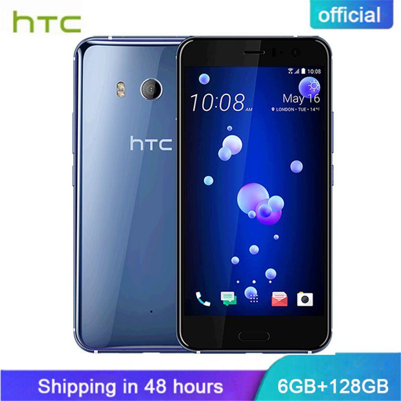 Official Original HTC U11 6GB RAM 128GB ROM 4G LTE Octa Core Snapdragon 835 IP67 Waterproof 5.5'' Dual Camera Smart Cellphone