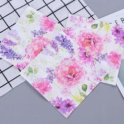 Pink Purple Flower Romantic Paper Napkins Cafe & Party Tissue Napkins Decoupage Decoration Paper 33cm*33cm 20pcs/pack/lot
