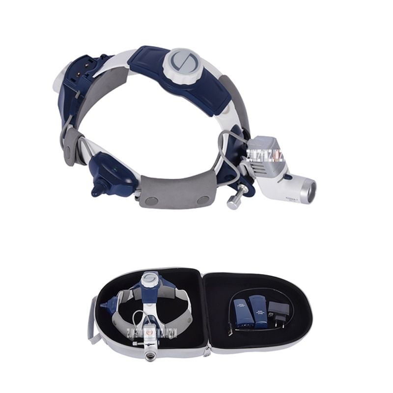 KD-202A-7 Professional Medical Headlight Chargeable LED Surgical Head Light Height Adjustable Dental HeadLamp 5W 50000H