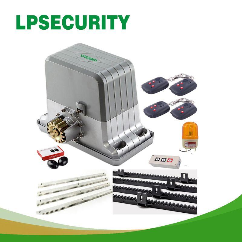 Ouvreur électrique automatique de moteur de porte coulissante de 1800 kg 6 supports keyfob 4 m/5 m (clavier de lampe de capteur GSM facultatif)