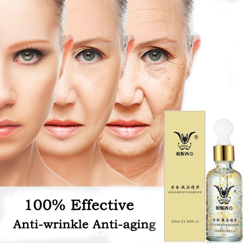 Super Anti Wrinkle Anti Aging Collagen 24k Gold Essence Skin Whitening Cream Moisturizing Face <font><b>Care</b></font> Hyaluronic Acid Liquid
