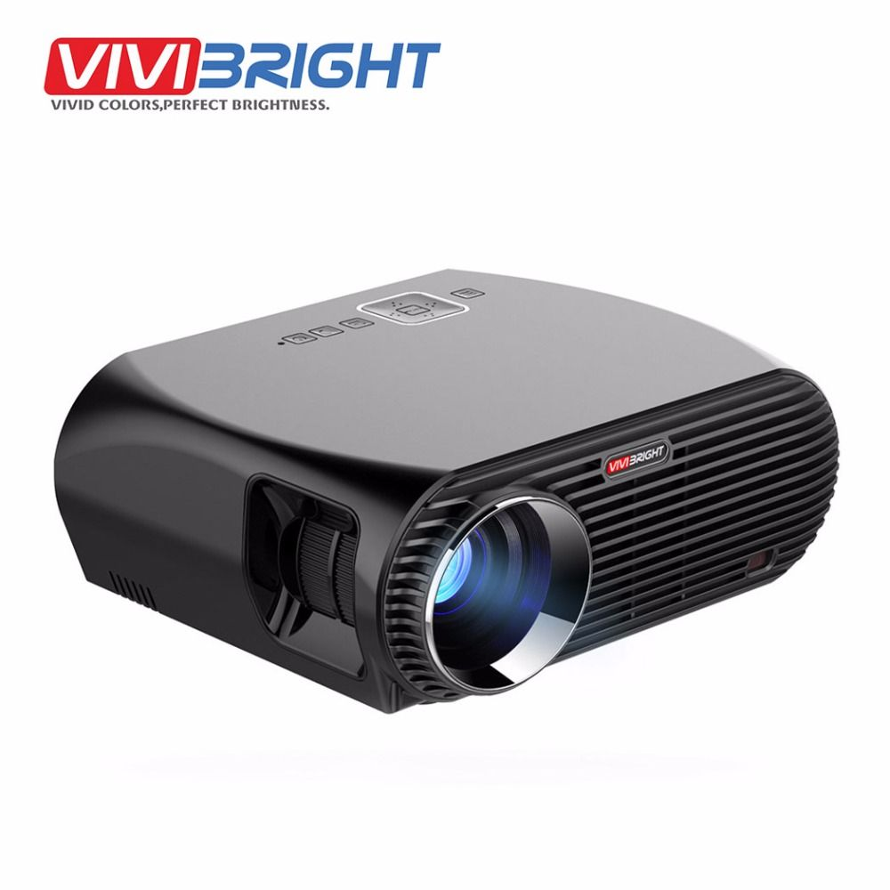 VIVIBRIGHT Android 6.0.1 LED Projector GP100 UP. 1280x800 Resolution 3200 Lumens Built-in WIFI Bluetooth, DLAN Miracast Airplay