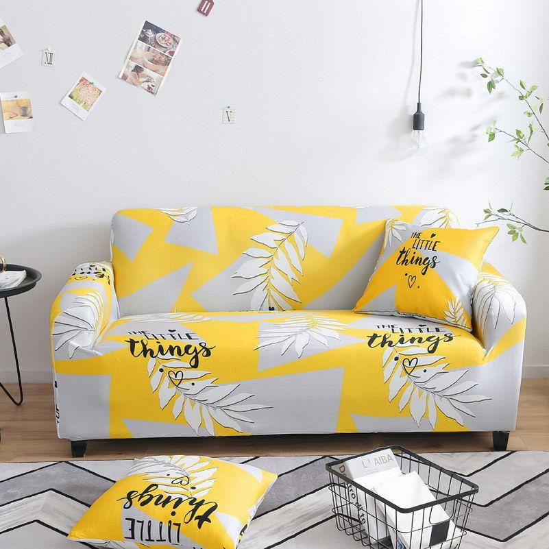 Nouvelles plantes sectionnelles canapé extensible couvre housses élastiques tout compris Polyester canapé coussin canapé serviette pour salon