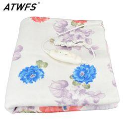 ATWFS электрическое Новое одеяло более плотный обогреватель двойной подогреватель тела 150*120 см подогреваемое одеяло термостат Электрический...