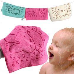 25*25 cm Mignon Bébé Serviette Visage Microfibre Absorbant Séchage De Bain Plage Serviette Gant de Toilette Maillots De Bain Bébé Serviette Coton Enfants serviette