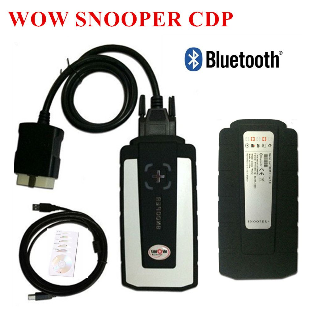 2019 WOW Snooper With Bluetooth Wurth WOW CDP Pro plus OBD2 Scanner Tool for delphis Diagnostic Tool New VCI vd ds150e cdp pro