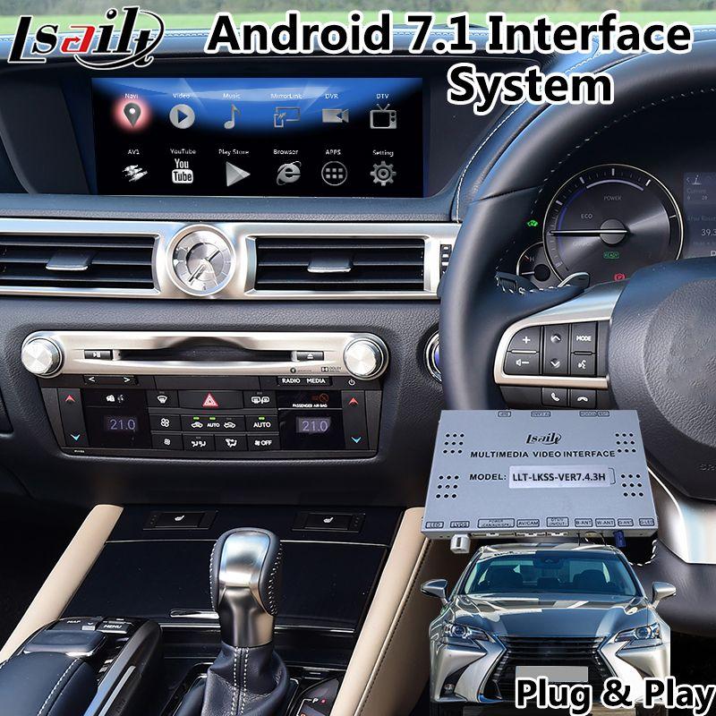 Lsailt Android 7.1 multimedia video interface für Lexus GS 300/350 2013-2019, fabrik Stecker und spielen mit GPS Navigation