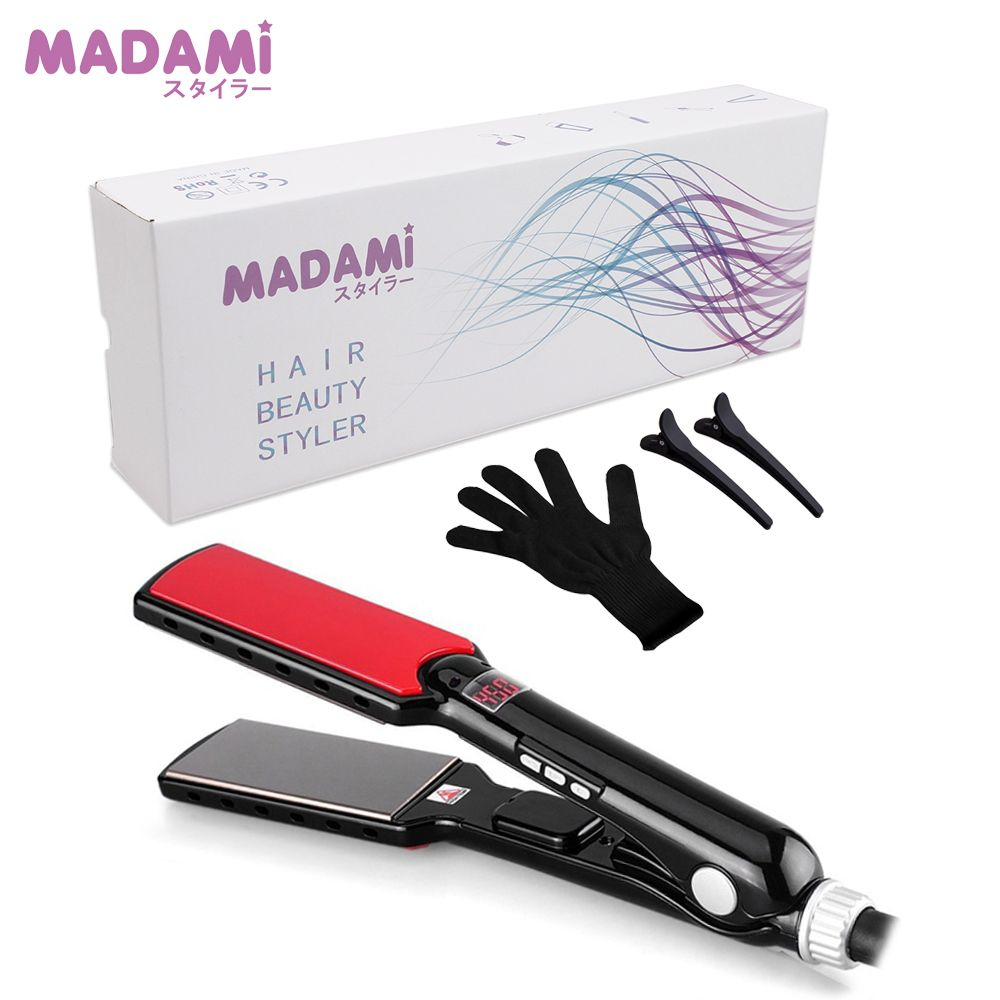 MCH 470F High <font><b>Temperature</b></font> Wide Plates Keratin Straightening Irons Styling Tool Titanium Professional Hair Straightener Flat Iron