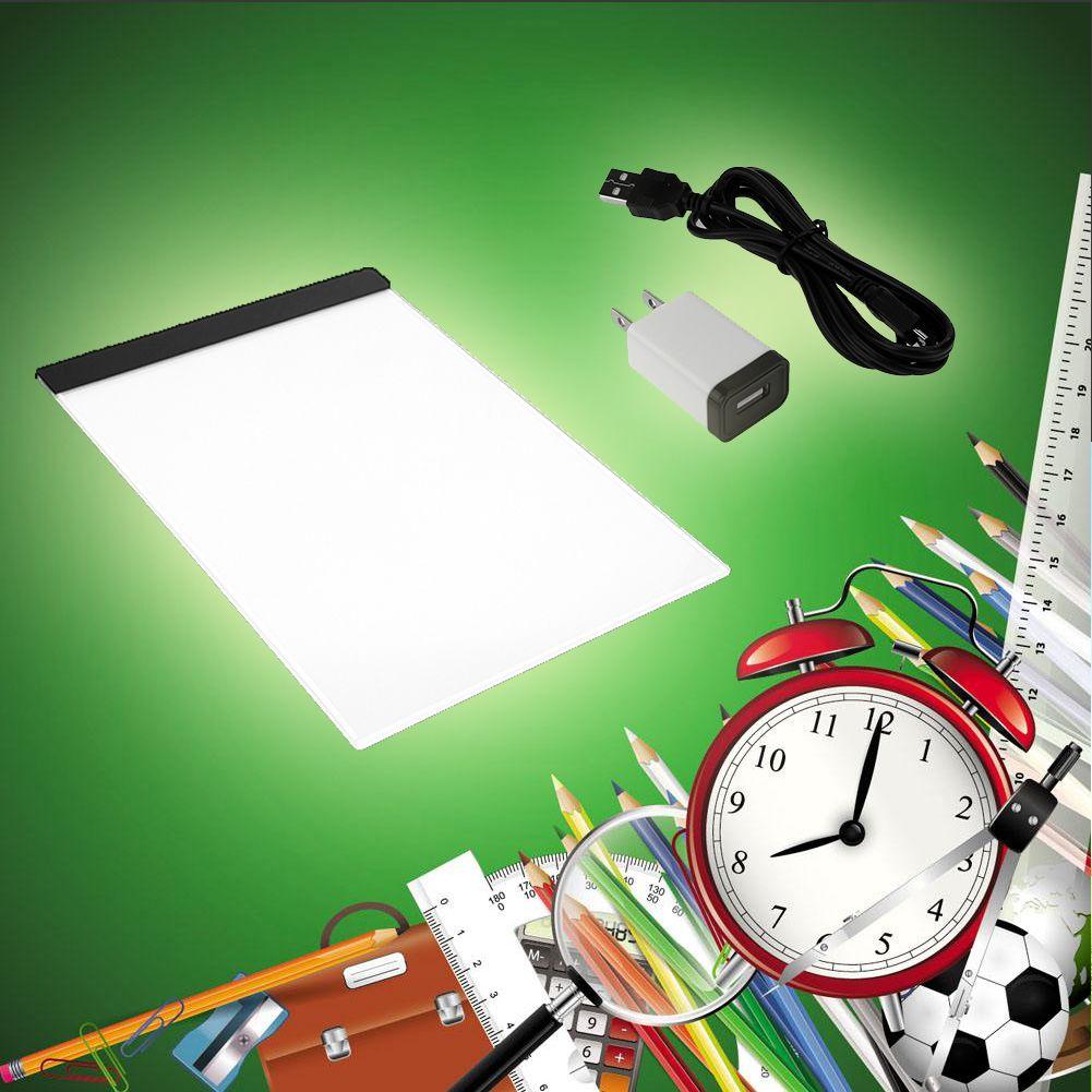 Praktische 4mm 1,5 Watt 5 V A4 LED Grün Licht Pad Kopie Pad Zeichnung Tablet LED Tracing Malerei Bord qualität Ohne Strahlung