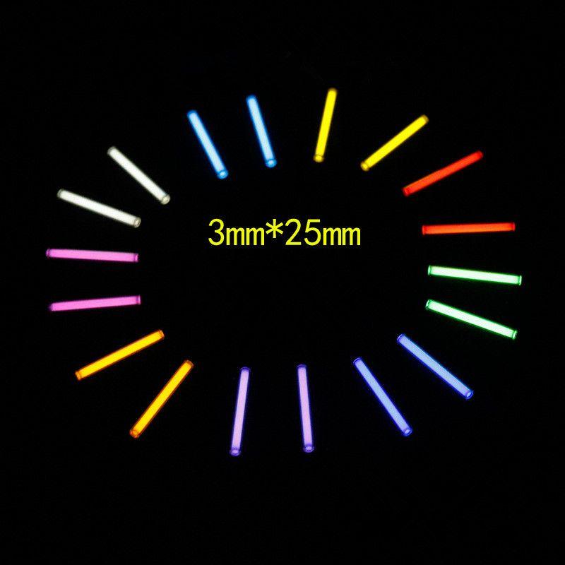 3MM * 25MM Self - luminous Tritium Gas Tube Tritium Gas Lamp Fluorescent Tube Tritium Lamp DIY Fingertips Gyroscope