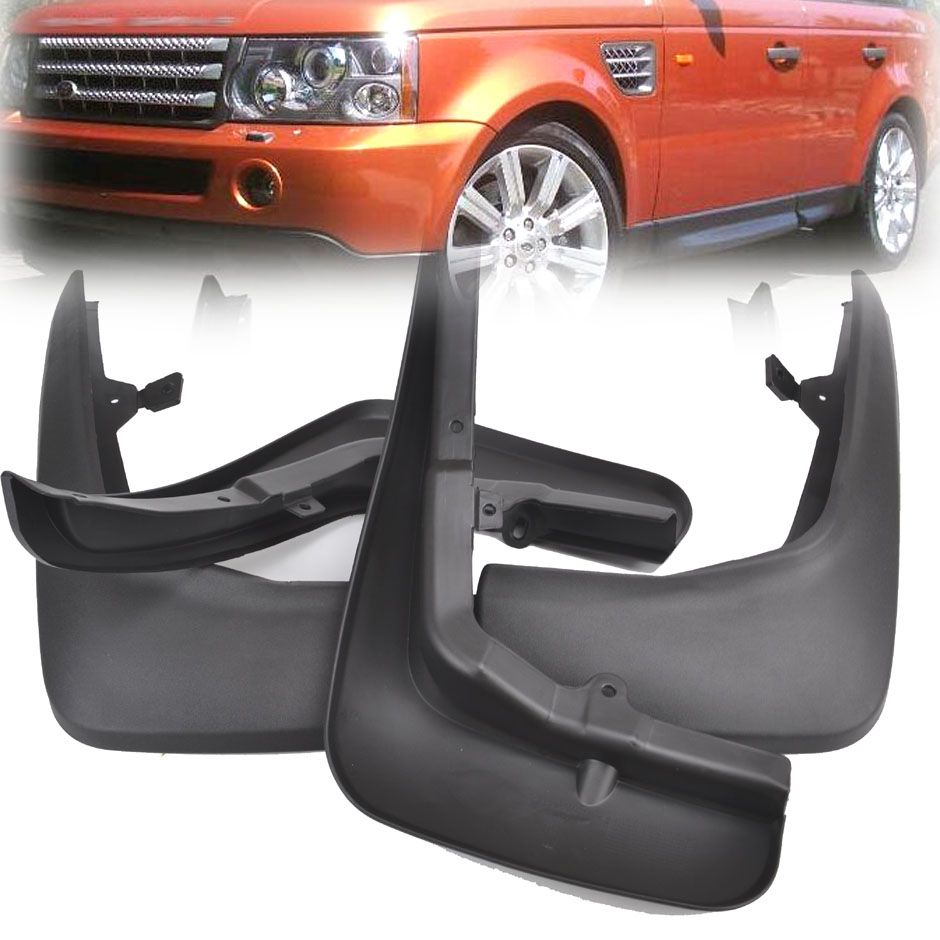FRONT&REAR OE STYLED MUD FLAP FLAPS FIT FOR RANGE ROVER SPORT L319 2005-2013 SPLASH GUARDS FENDER CAR ACCESSORIES 2012 2010 2011