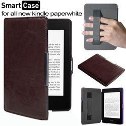 Funda de cuero con cierre magnético funda para Amazon Kindle paperwhite con 1/2 + Screen protector + Stylus pen