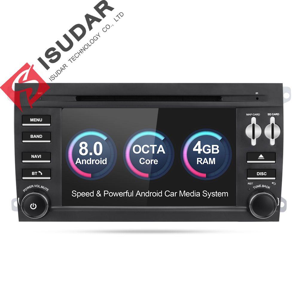 Isudar Car Multimedia Player 2 din car radio gps Android 8.0 For Porsche/Cayenne OBD2 Microphone Bluetooth USB DVR DAB Wifi