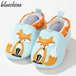 1 Pair Fashion Cotton Cloth First Walker Cartoon Baby Boy Girls Shoes Bebe Toddler Moccasins 0-24M Non-slip Soft Bottom Shoes