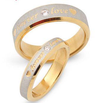 Кольцо Надписи r110st # пара Кольца 2014 распродажа модной одежды Forever Love Сталь ювелирные изделия aneis кольцо