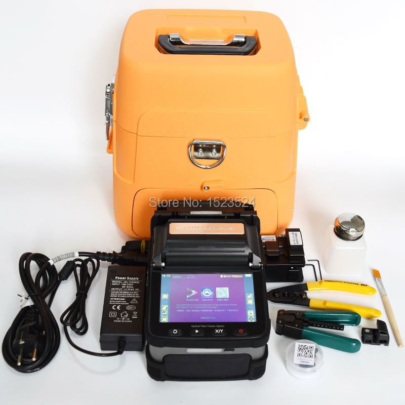 SM&MM Automatic Six Motors Intelligent FTTH Fiber Optic Splicing Machine Optical Fiber Fusion Splicer