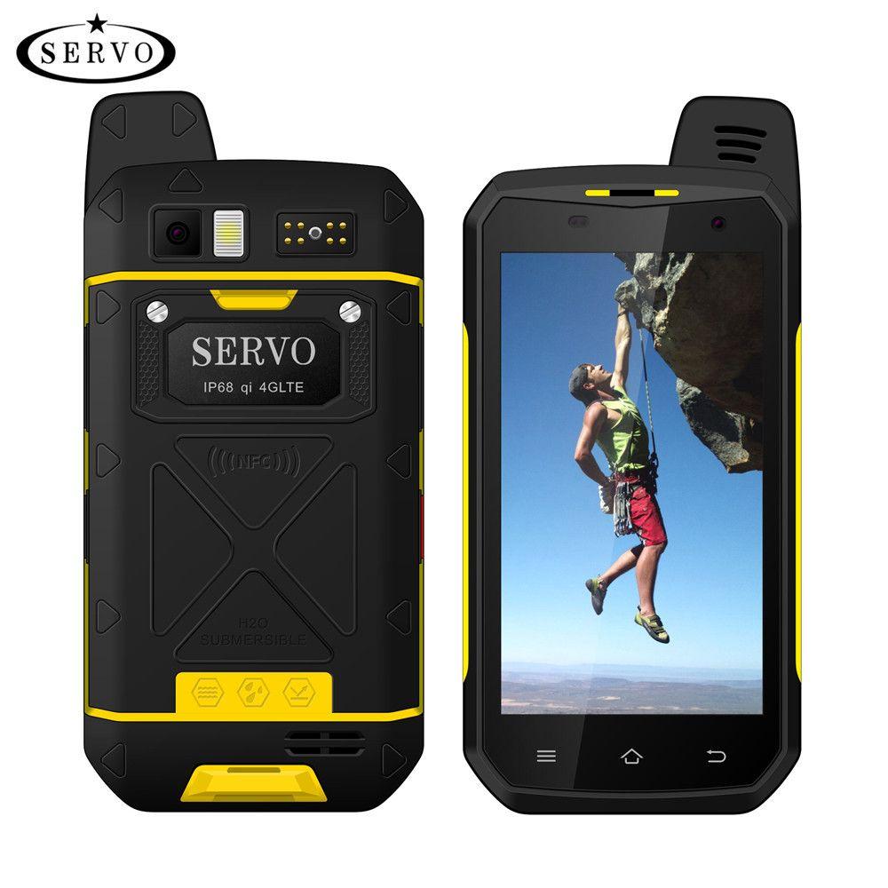 Original SERVO B6000 MTK6755 Octa Core 4G 64 GB Android 6.0 OS 13MP 5000 mAh IP68 Support de téléphone Mobile sans fil talkie-walkie 4.7