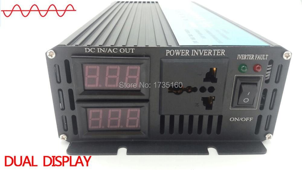 una sinusoide convertitore CE RoHS SGS approved,12 volt 24 volt 12 volt home inverter 1500w Pure sine wave inverter