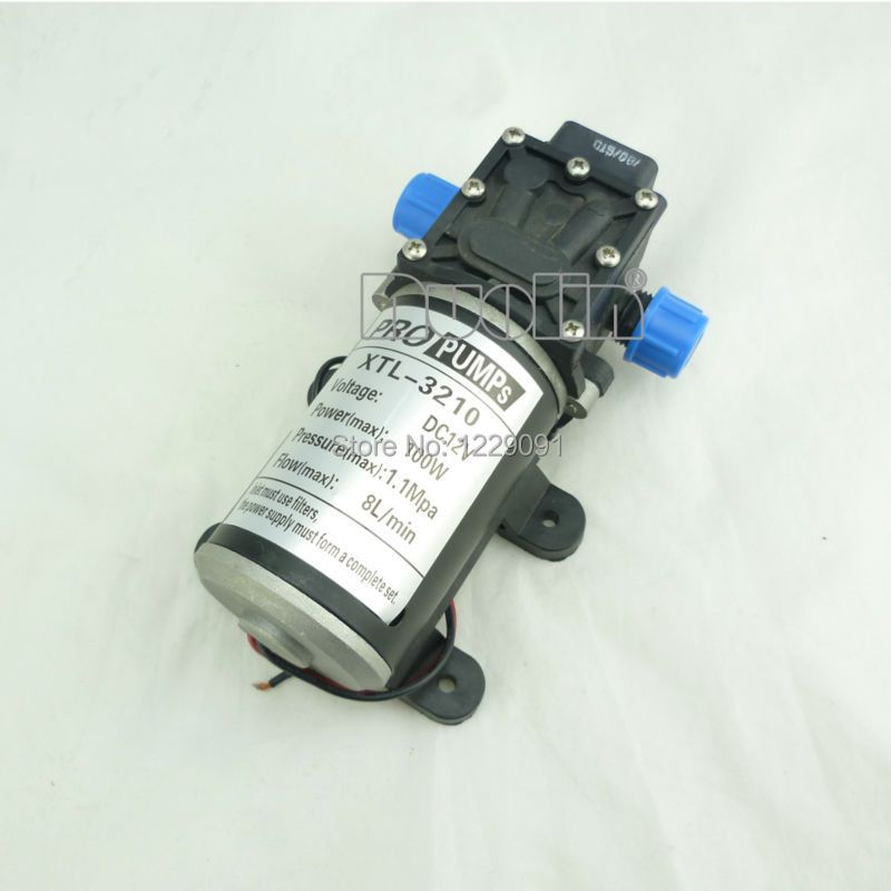 100W return valve type Diaphragm high pressure small 12v dc Water Pump 8L/min self priming