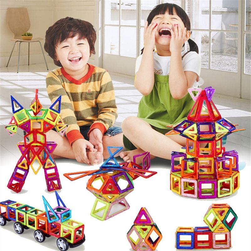 108 pièces taille Standard bricolage blocs de construction magnétiques aimant magique tirant des blocs de construction magnétiques assemblés cadeaux pour enfants