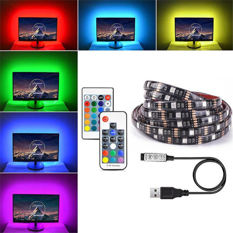 DC5V USB LED Streifen 5050 RGB Flexible Licht 1 mt 2 mt 3 mt 4 mt 5 mt TV Hintergrund beleuchtung RGB Klebeband IP65 Wasserdicht