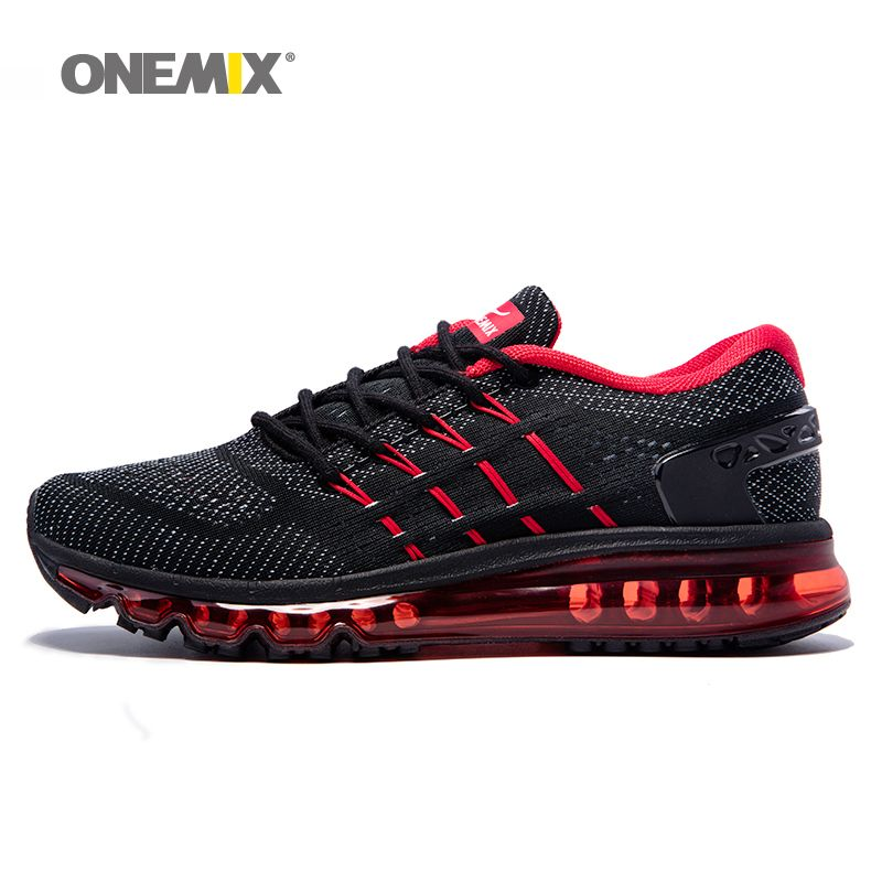 ONEMIX Air Women Running Shoes for Men Mesh Unique Shoe Tongue Athletic Trainers Black Breathable Sports Shoe Cushion Sneakers 8