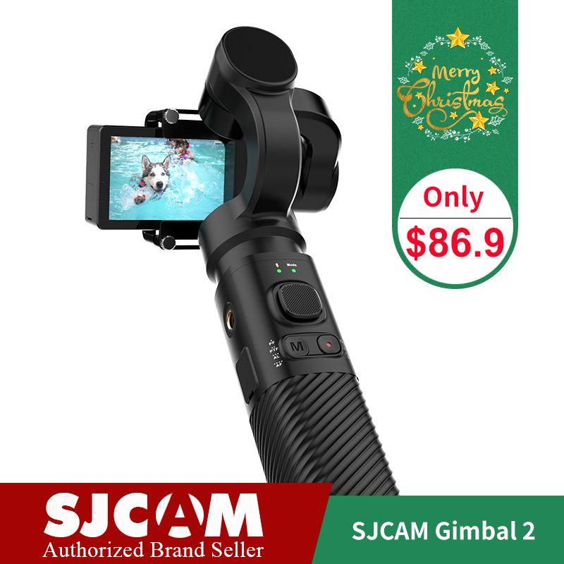 SJCAM Zubehör SJCAM SJ8 Serie SJ7 STERN SJ6 legende Handheld 3-Achsen Gimbal 2 Stabilisator einbeinstativ für sj SJ8 plus pro yi 4 k cam
