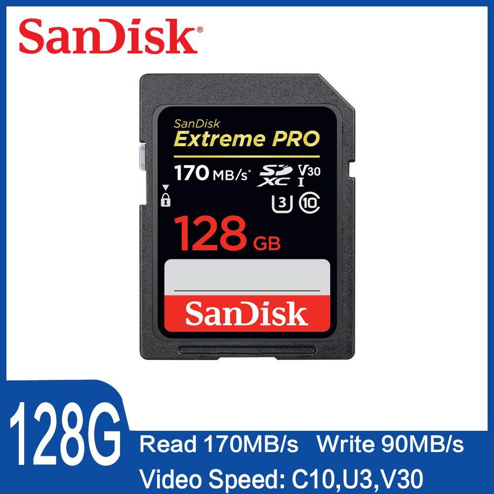 SanDisk 32 GB Extreme PRO sd-karte 64 GB 16 GB Speicher Karte 128 GB Sdcard 256 GB klasse 10 UHS-I Hohe Geschwindigkeit 95 MB/s V30 DSLR sd 32