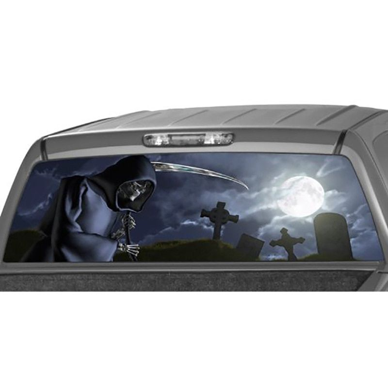 Grim reaper cemetery car sticker Rear Window Graphic Tint Decal Sticker Truck durability and vivid colors car Stickers