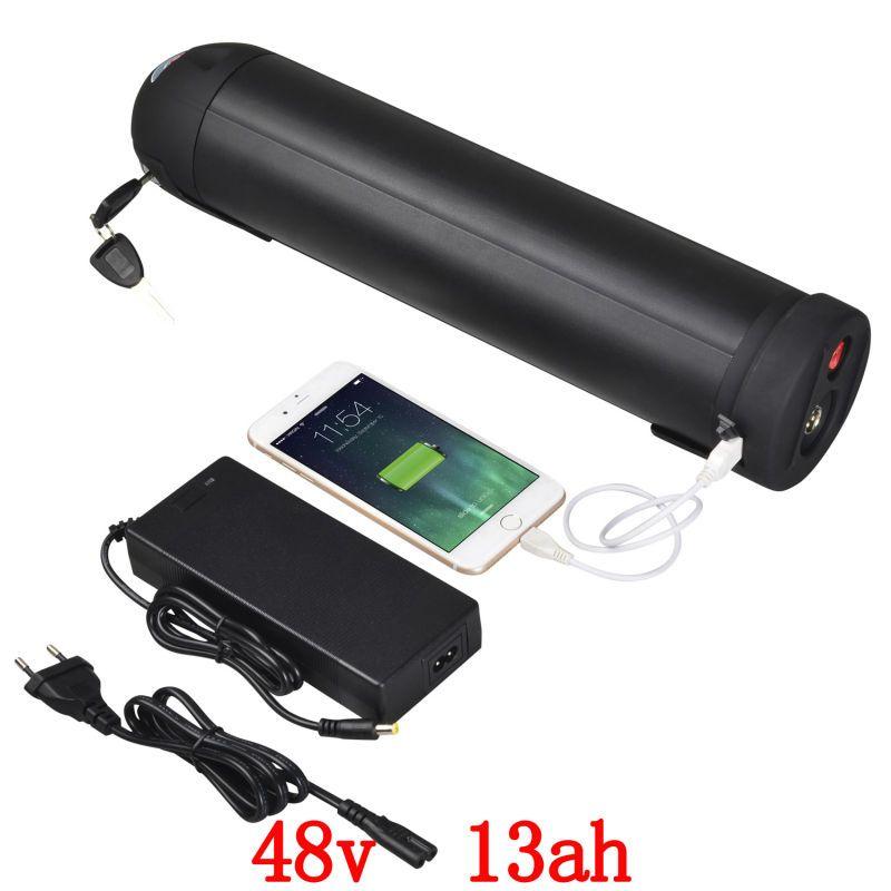 EU UNS keine steuer 48 v 13Ah lithium-ionen flasche wasser wasserkocher batterie ebike batterie für Bafang BBS02 750 watt BBS03 BBSHD 48 v 1000 watt