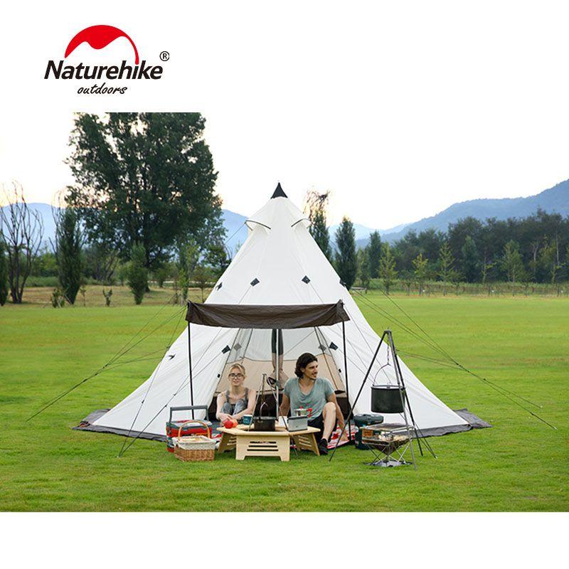 Wasserdicht Tipi Zelt Outdoor Party Erhalten-zusammen Pergola Turm Post Jagd Camping Große Familie Zelt für 3/4 /5/6/7/8 Person
