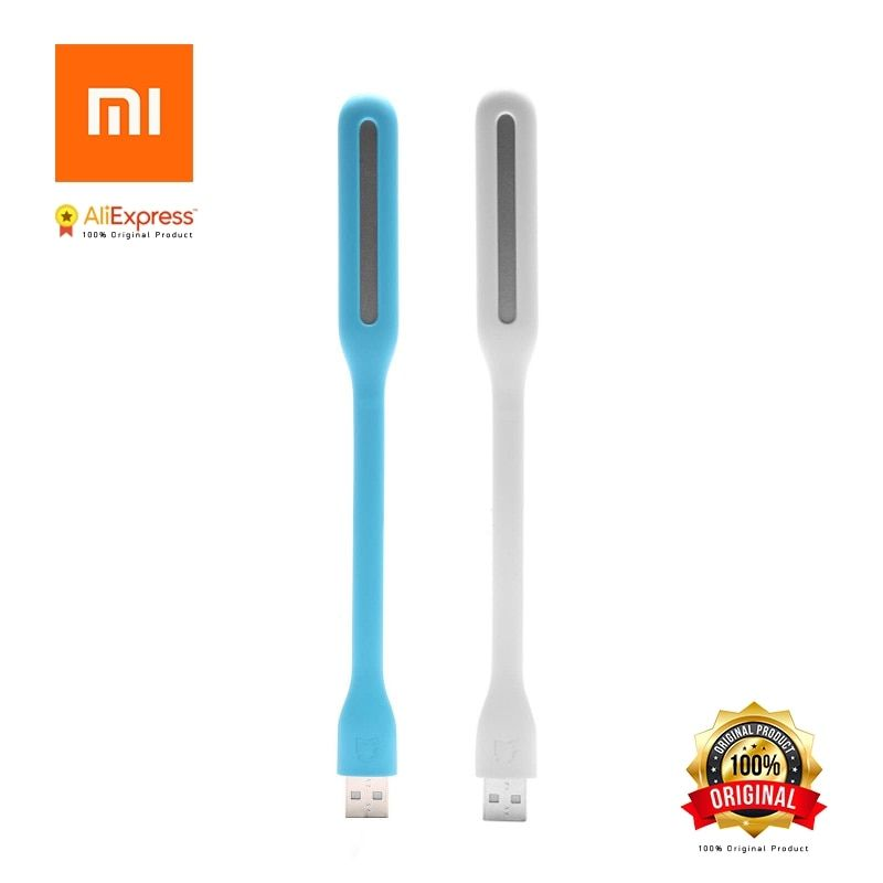 Original Xiaomi USB Light Enhanced Version with Switch for Power Bank Comupter Portable Shining LED Lamp