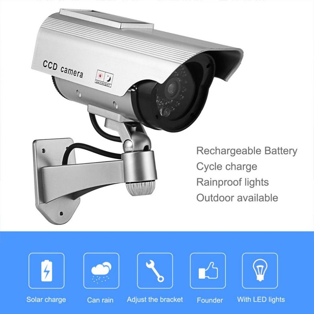 Dummy Kamera Solar Batterie Powered Flimmern Blink LED Gefälschte Indoor Outdoor Überwachung Sicherheit Kamera Kugel CCTV Kamera