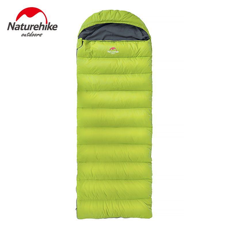 Naturehike 3 Farben Tragbare Umschlag Schlafsack Winter Ultraleichte 2200x750mm Camping Reise Startseite Unten Feder Faul Tasche 1,7 kg