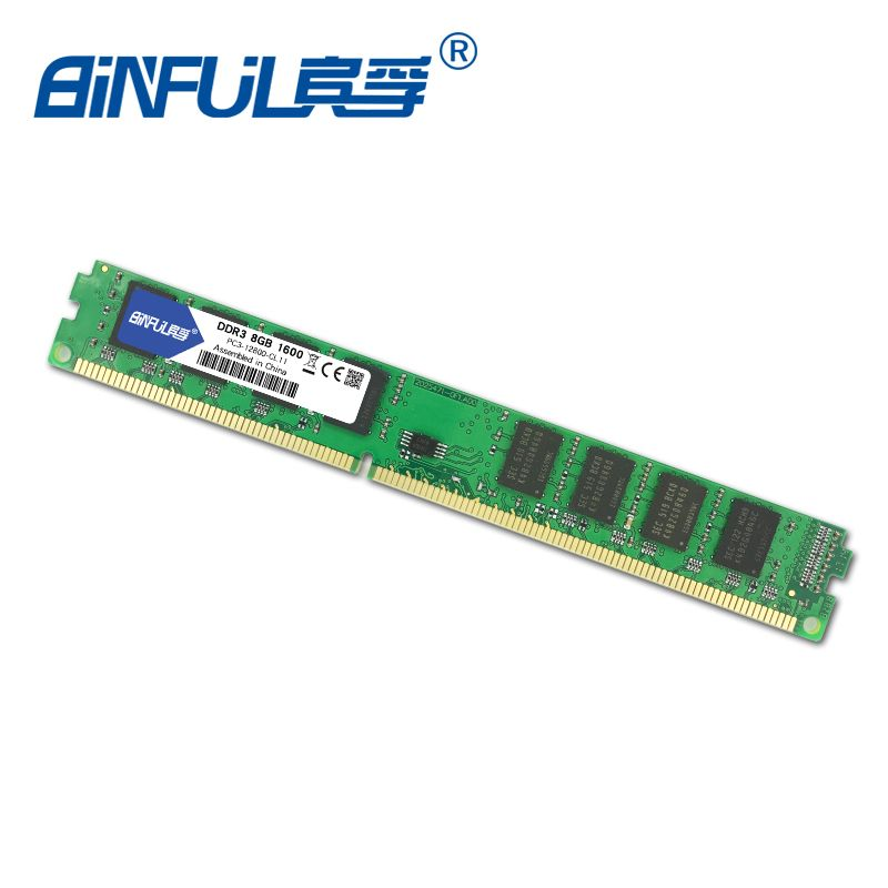 Binful 8GB 1600MHz PC3-12800 Memory Ram memoria ram For desktop PC DIMM 1.5v