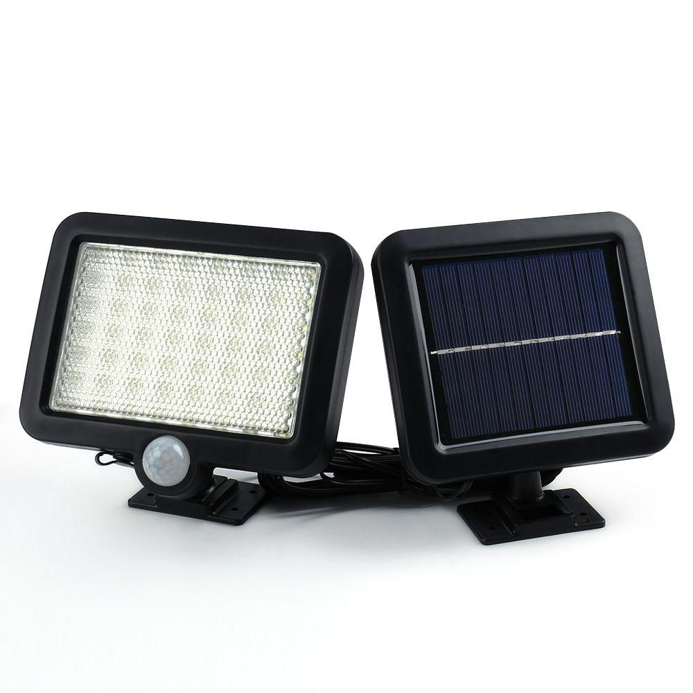 Ledertek Hot Selling Solar Led Powered Garden Lawn Lights Outdoor Infrared Sensor Light 56 LED Solar Motion Detection Wall Light