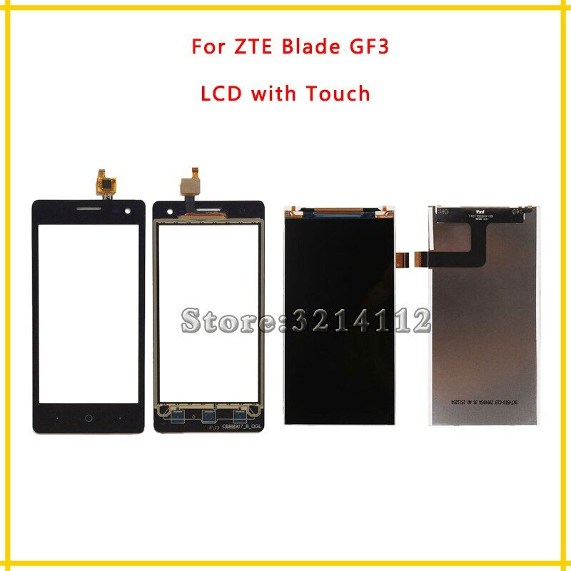 Replacement LCD Display Screen or Touch Screen Digitizer Sensor For ZTE Blade GF3 + Tracking Code