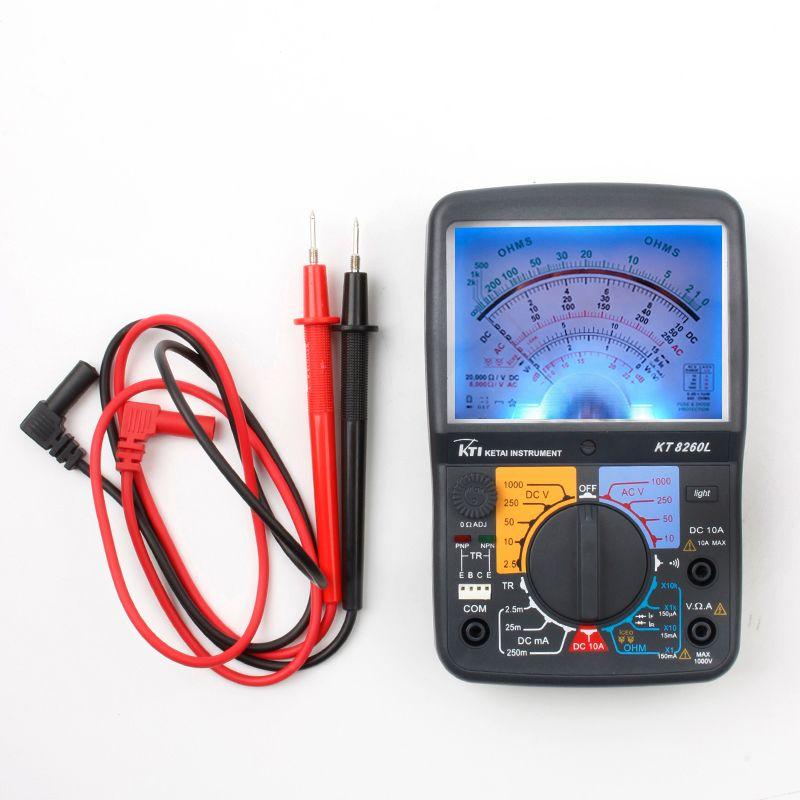 High-sensitivity 8260L multi-function multimeter AC/DC resistance test Ohm Meter with light triode input Analog Multimeter