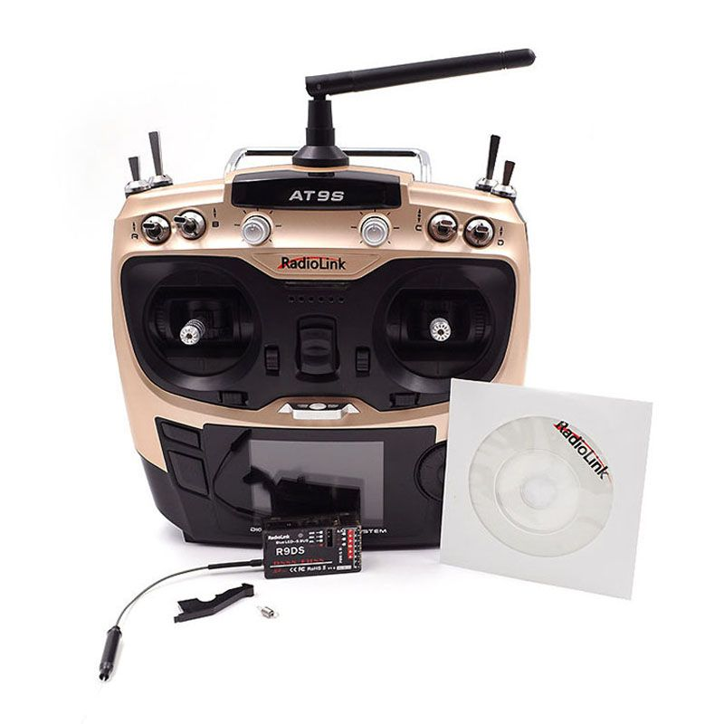 Radiolink AT9S R9DS Radio Remote Control Mode 2 System DSSS FHSS 2.4G 10CH Transmitter Receiver for RC Helicopter/RC BOAT