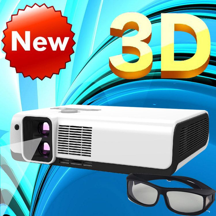 WZATCO Polarisierte 3D Lesen imax Full HD Dual lens Portable LED Projektor 2700 ANSI Lm overhead für heimkino, KTV, Kaffee shop