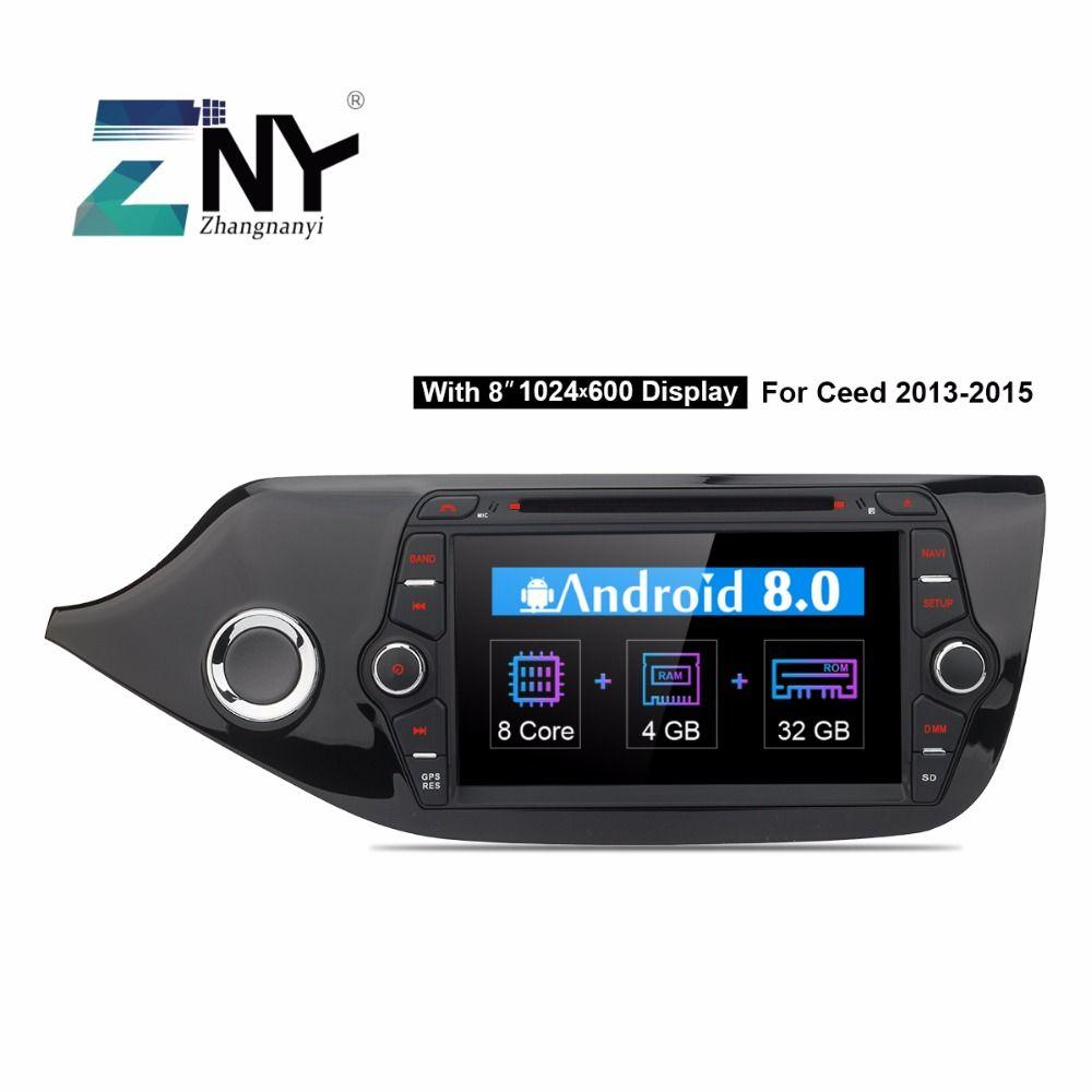 Android 8.0 Car DVD 2 Din Autoradio For Kia Ceed 2013 2014 2015 2016 4GB RAM 8