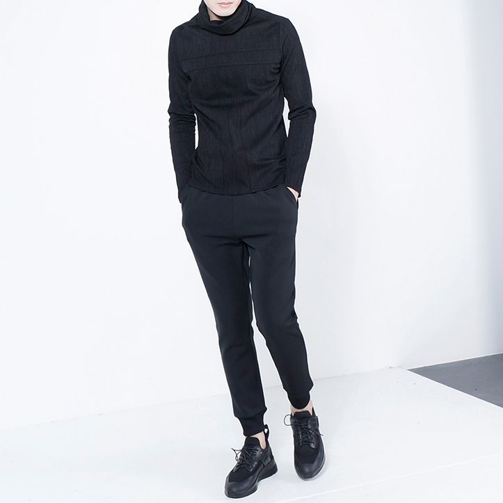 2018 New Casual Black Pants For Men