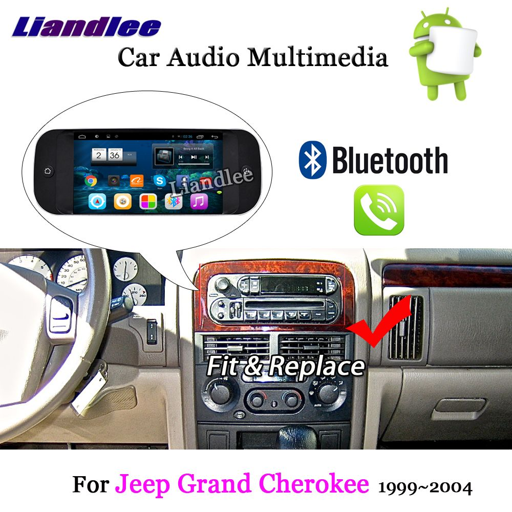 Liandlee Auto Android System Für Jeep Grand Cherokee 1999 ~ 2004 Radio Stereo Carplay GPS Navi KARTE Navigation HD Bildschirm multimedia