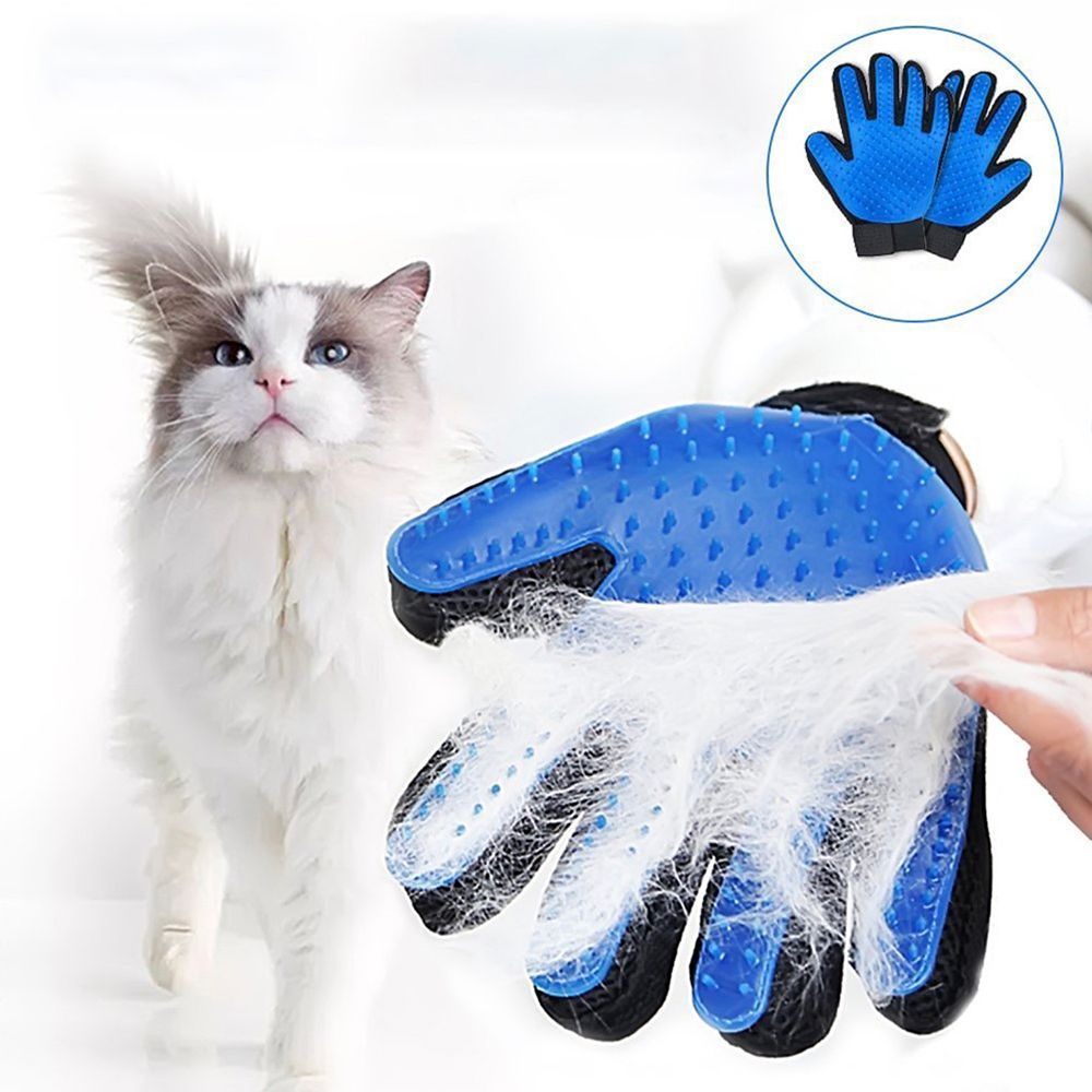 Pet Hair Glove Comb Dog Cat Grooming Glove Cleaning Deshedding Left Right Hand Hair Removal Brush Promote Blood Circulation