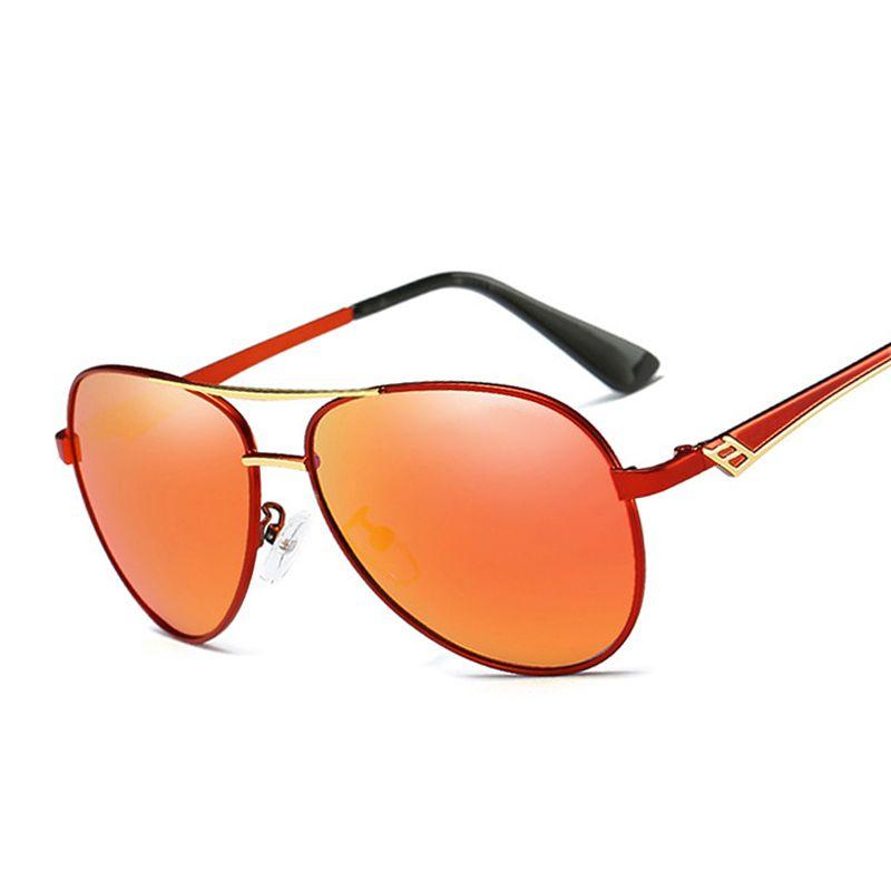 Liquidación artículo metal aviación HD polarizadas Sol Gafas para hombres mujeres marca diseñador Gafas de sol aviador Ucrania baratos tonos