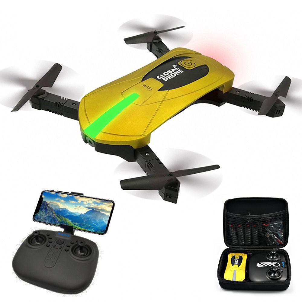 RC Drones avec hd Caméra RC Hélicoptère Pliable Mini Drone FPV Quadcopter Aéronefs Selfie Drone Pliable Drone GW018 JY018 JD018