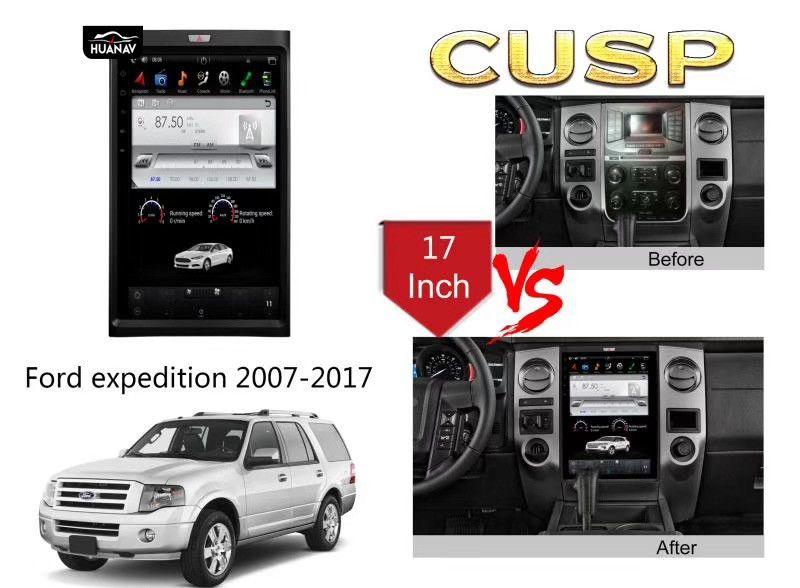 Tesla stil Vertikale Bildschirm Auto DVD Player GPS Navigation Für Ford expedition 2007 + Auto radio stereo-player steuergerät multimedia